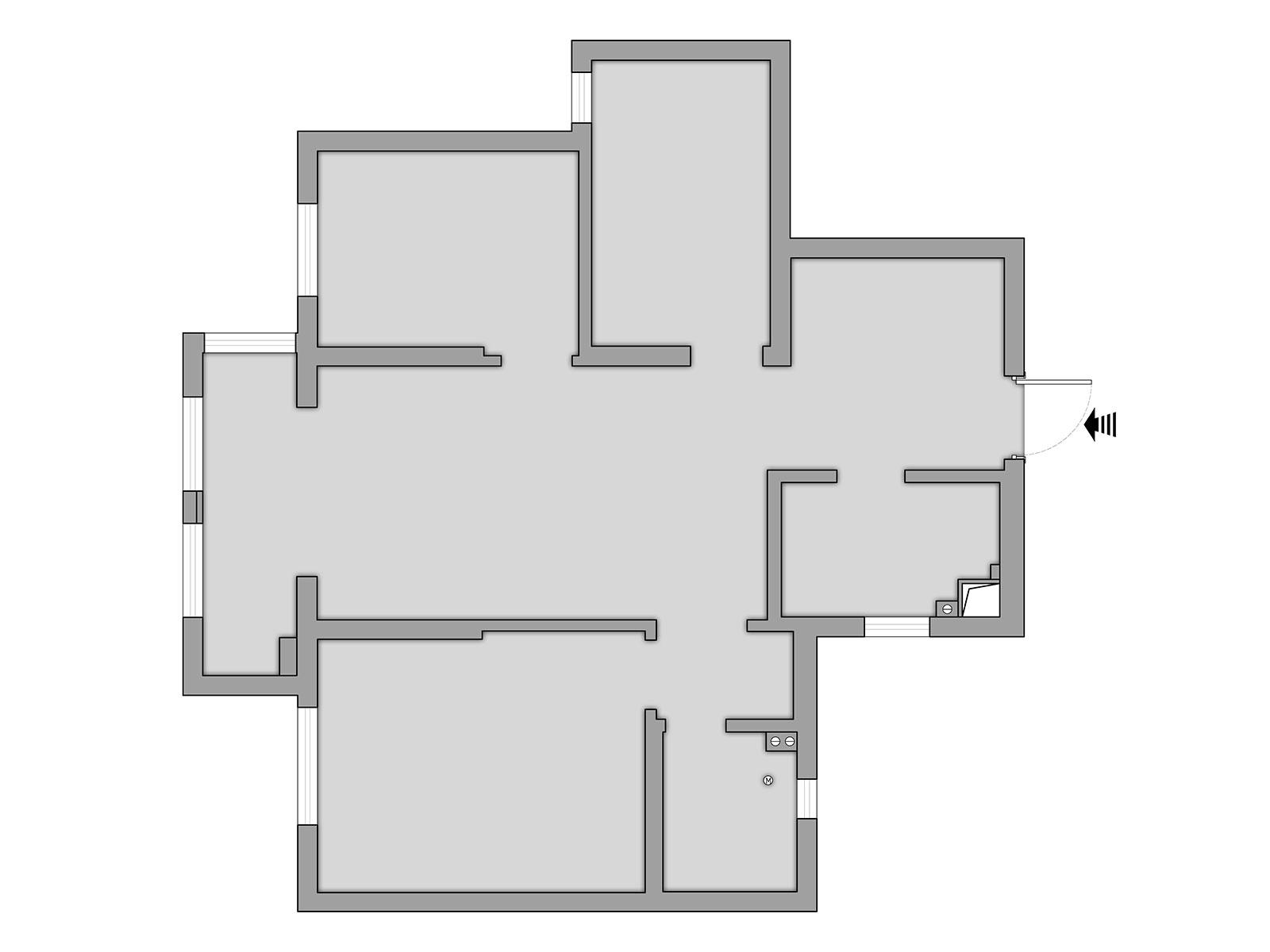 93平小三居北欧风格丨佳兆业广场装修案例装修设计理念