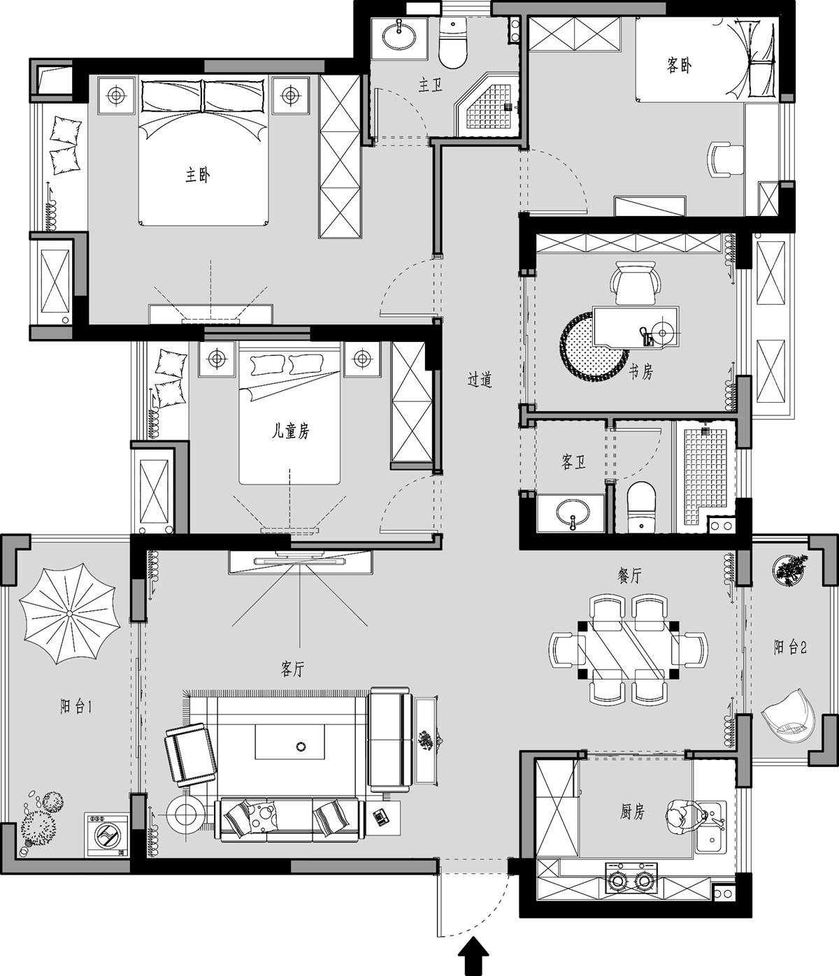 翰林城153m/2美式性状style装潢成果图装潢策划愿景