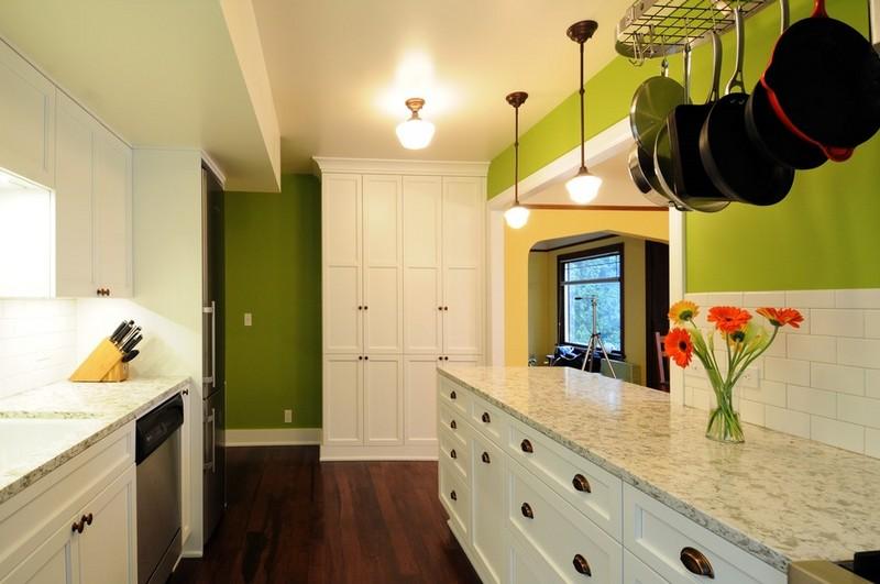 石灰绿厨房效果图