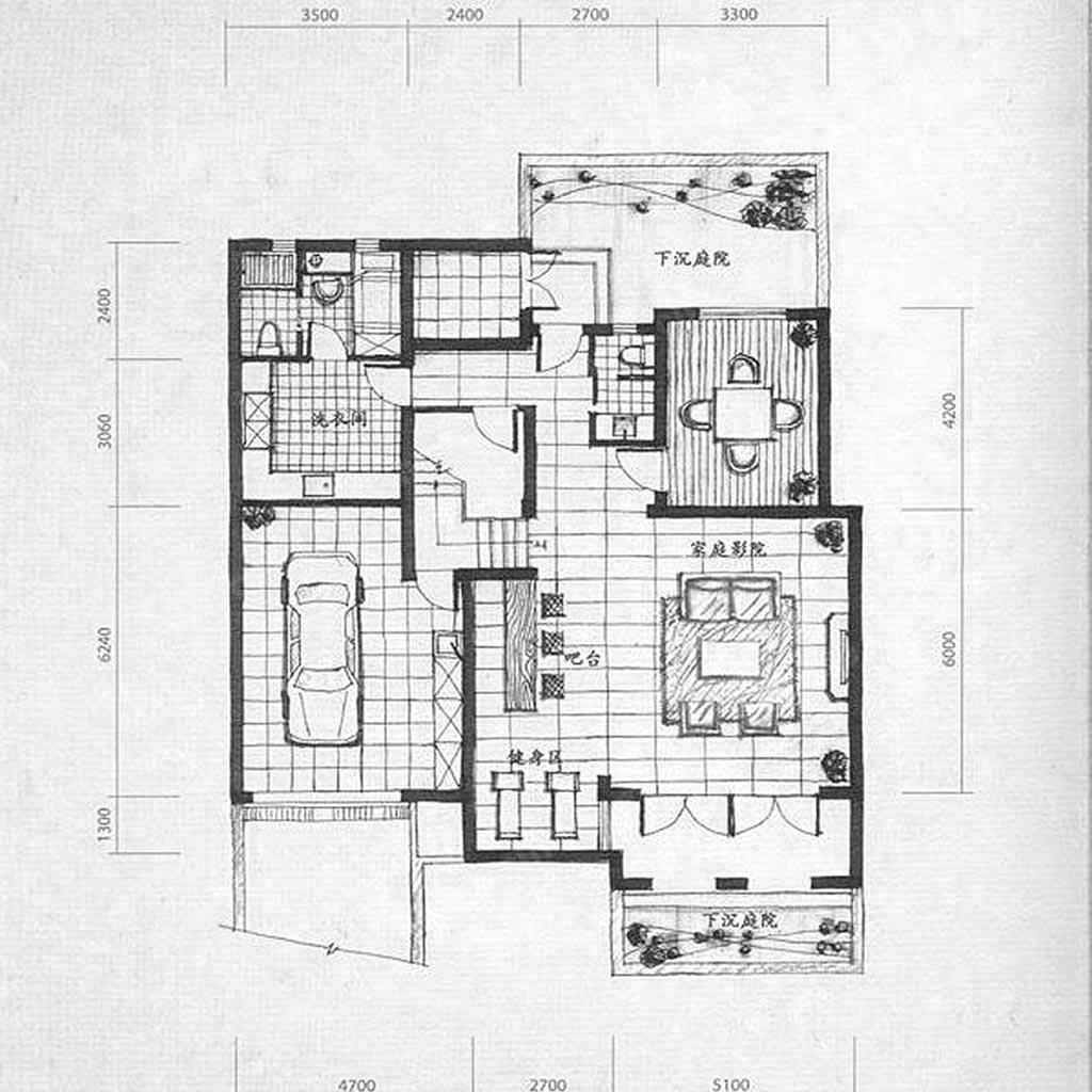 麓山国际303㎡别墅简美轻奢风格装修设计理念