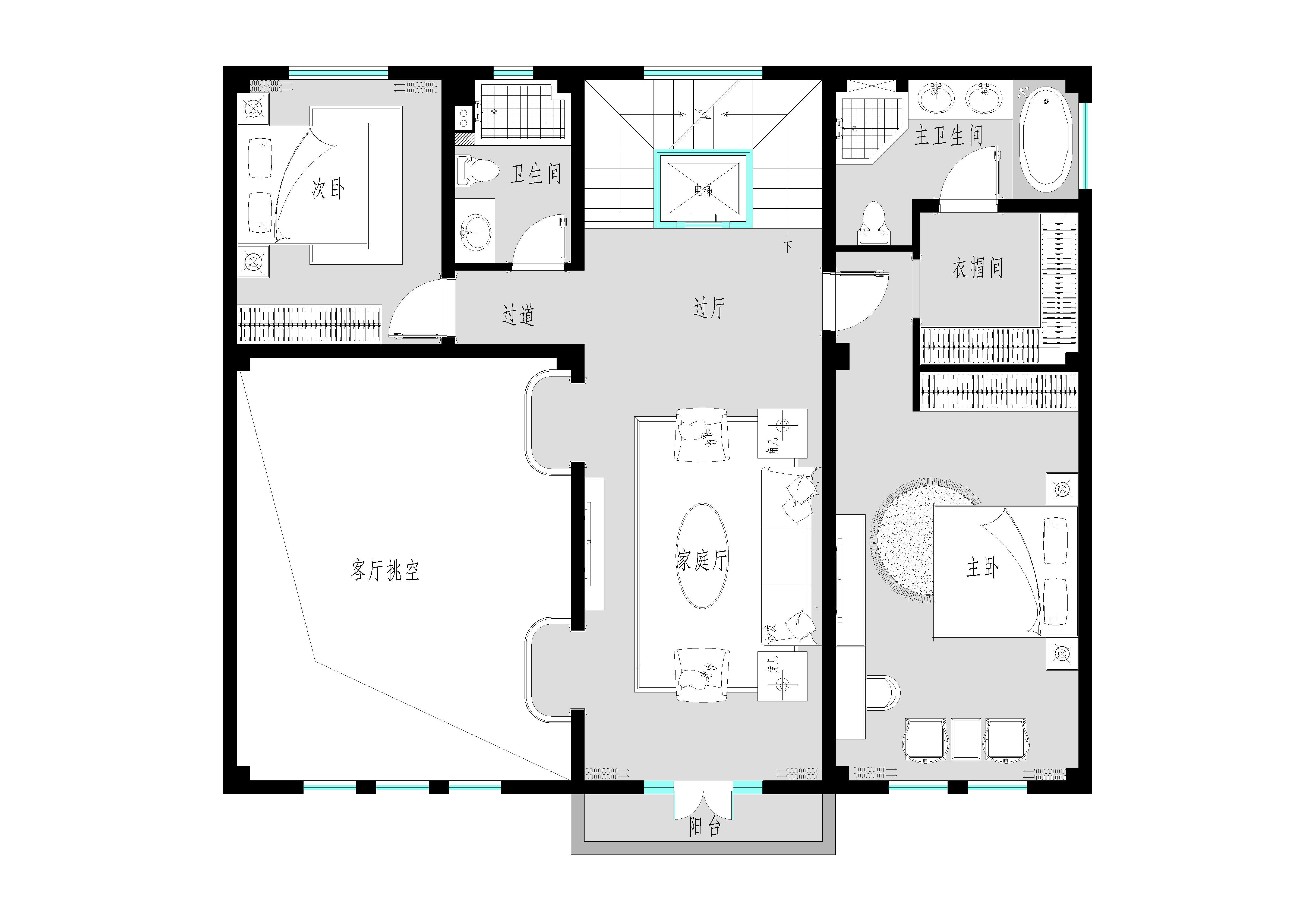 通州皇木场-500平米-中式装修设计理念