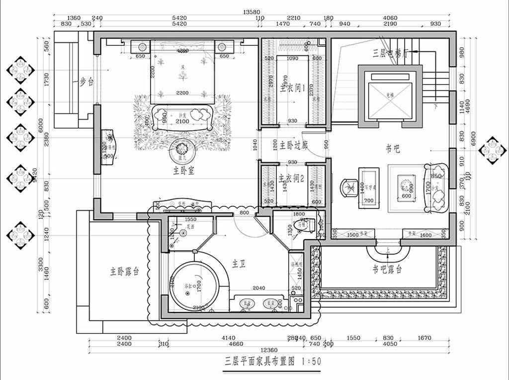 远洋天著-570平米-简欧风格装修设计理念