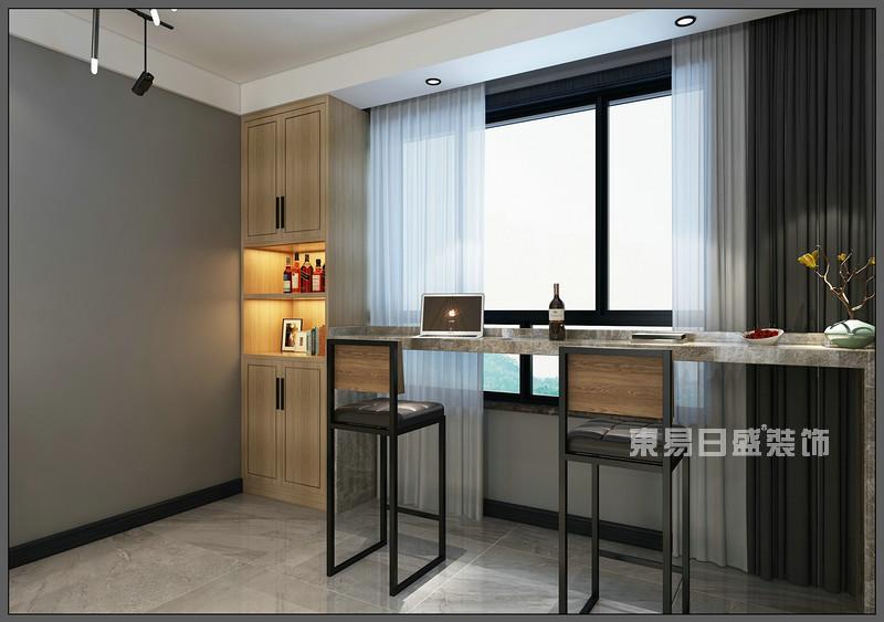 餐厅 吧台设计_150平米北欧风格装修案例_东易日盛装饰