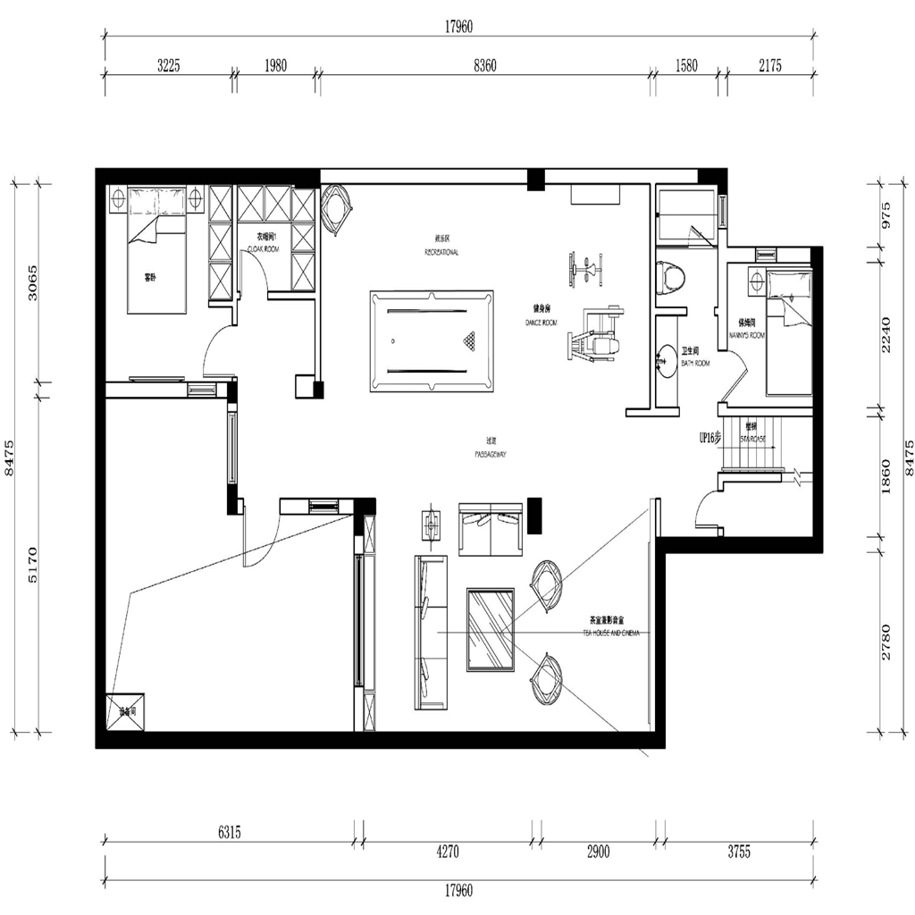 上海尚东鼎联排别墅400㎡新中式装修效果图装修设计理念