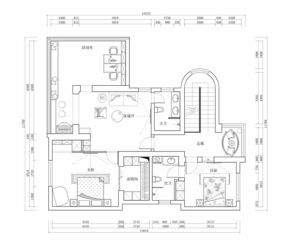 观塘-中式-200平米装修设计理念