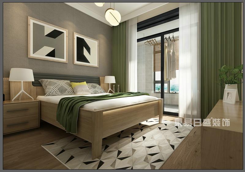 卧室 窗帘_150平米北欧风格装修案例_东易日盛装饰