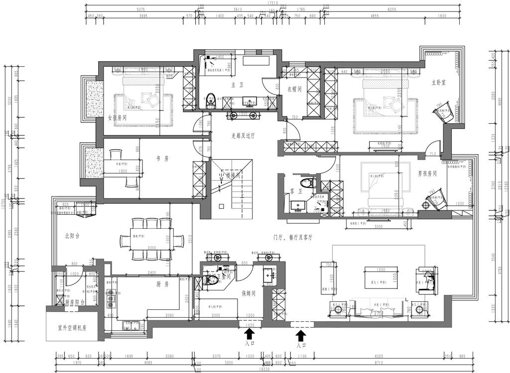 富力城E区-280平米-现代简约风格装修设计理念