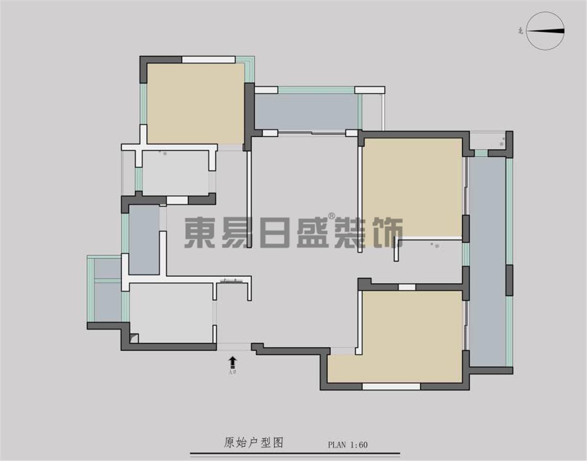高科荣境130平简约风格案例装修设计理念