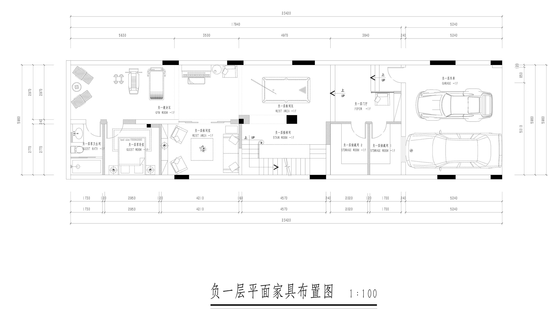 寮步丰泰橡树郡装修效果图-460㎡现代美式风格联排别墅装修案例装修设计理念