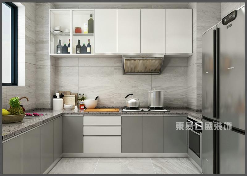 厨房 橱柜设计_150平米北欧风格装修案例_东易日盛装饰