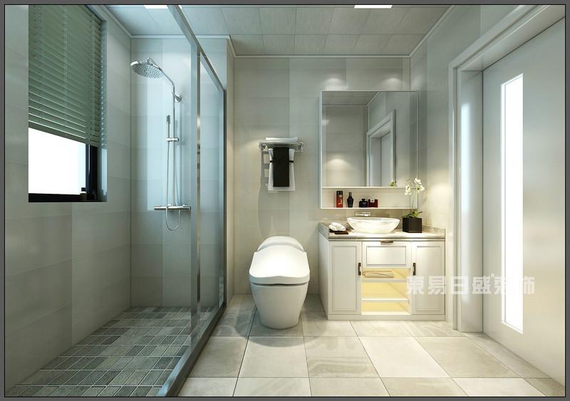 卫生间 淋浴区_150平米北欧风格装修案例_东易日盛装饰