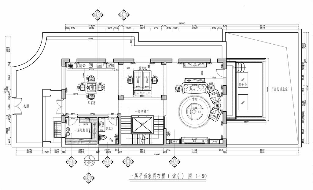 中海九号公馆-1-660平米-美式风格装修设计理念