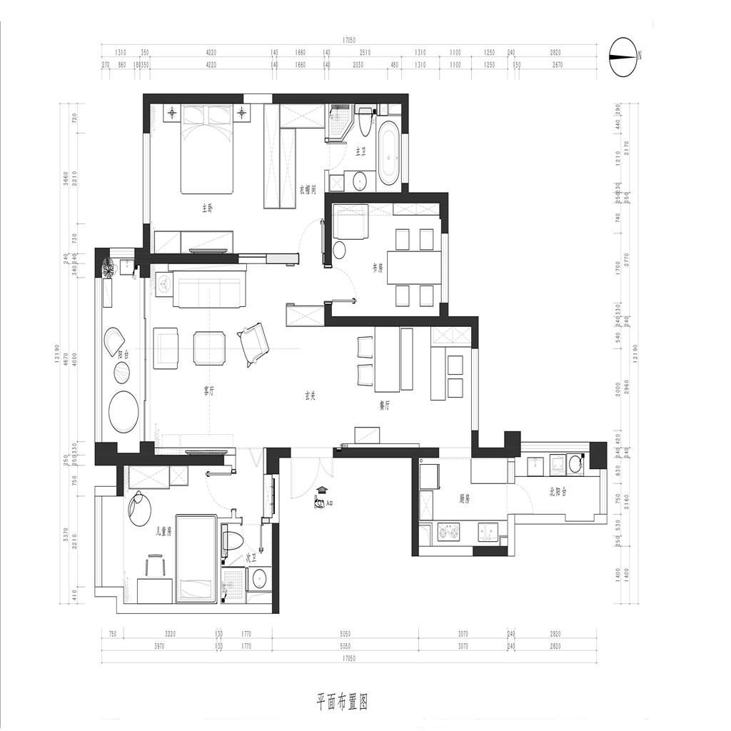 尚海郦景163平简约装修样板间 尚海郦景163平简约装修效果图装修设计理念