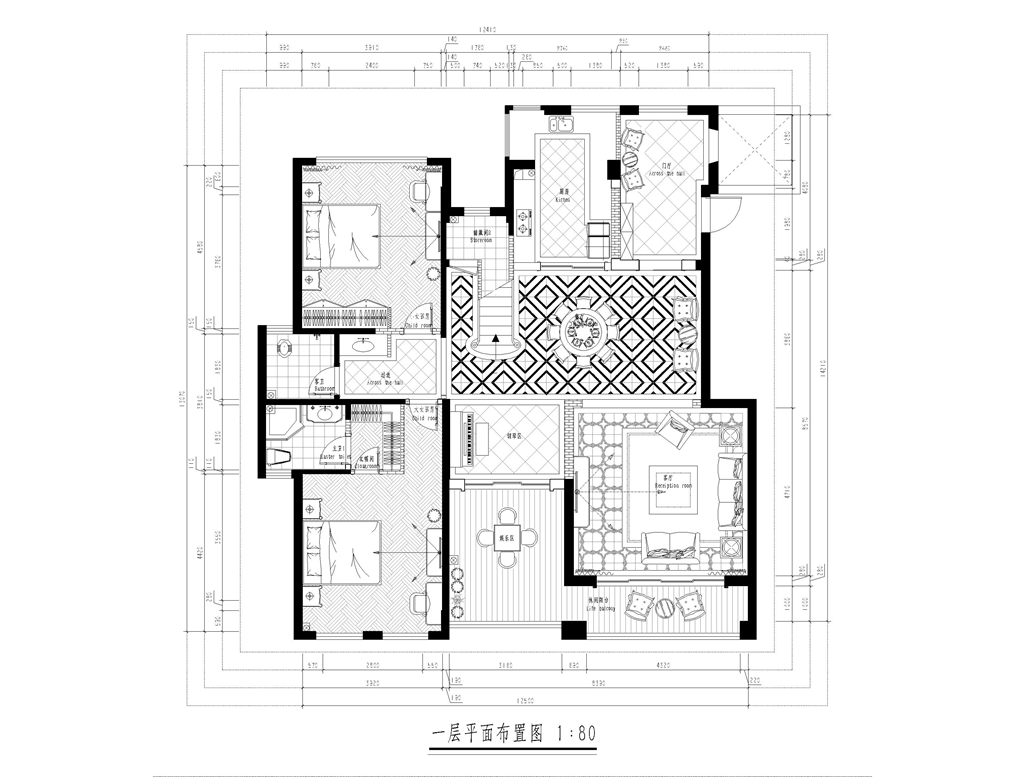 中建芙蓉和苑270平米美式风格装修设计理念