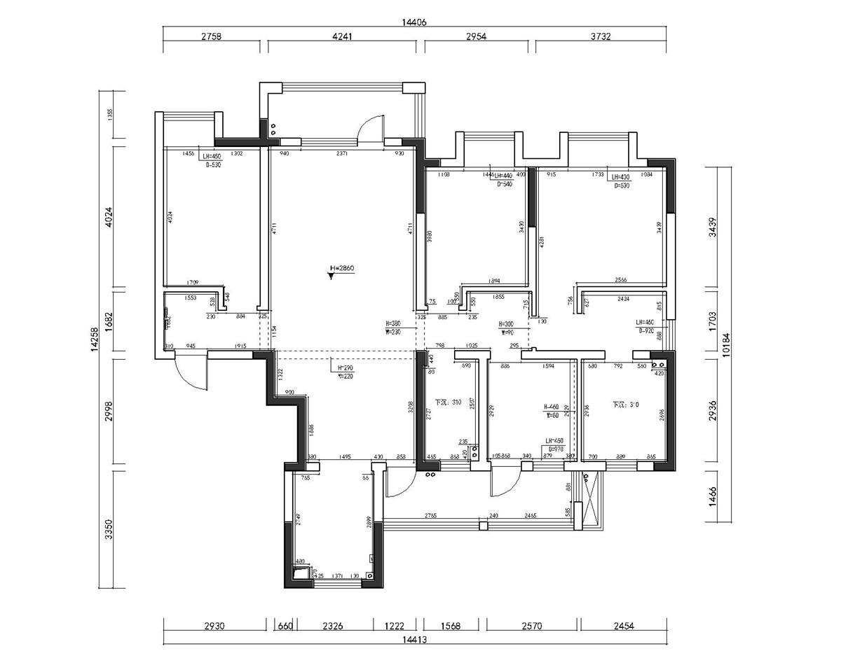 联投龙湾142平现代性状style装潢成果图装潢策划愿景