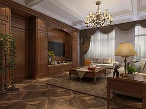190平美式风格别墅装修效果图,自然休闲!
