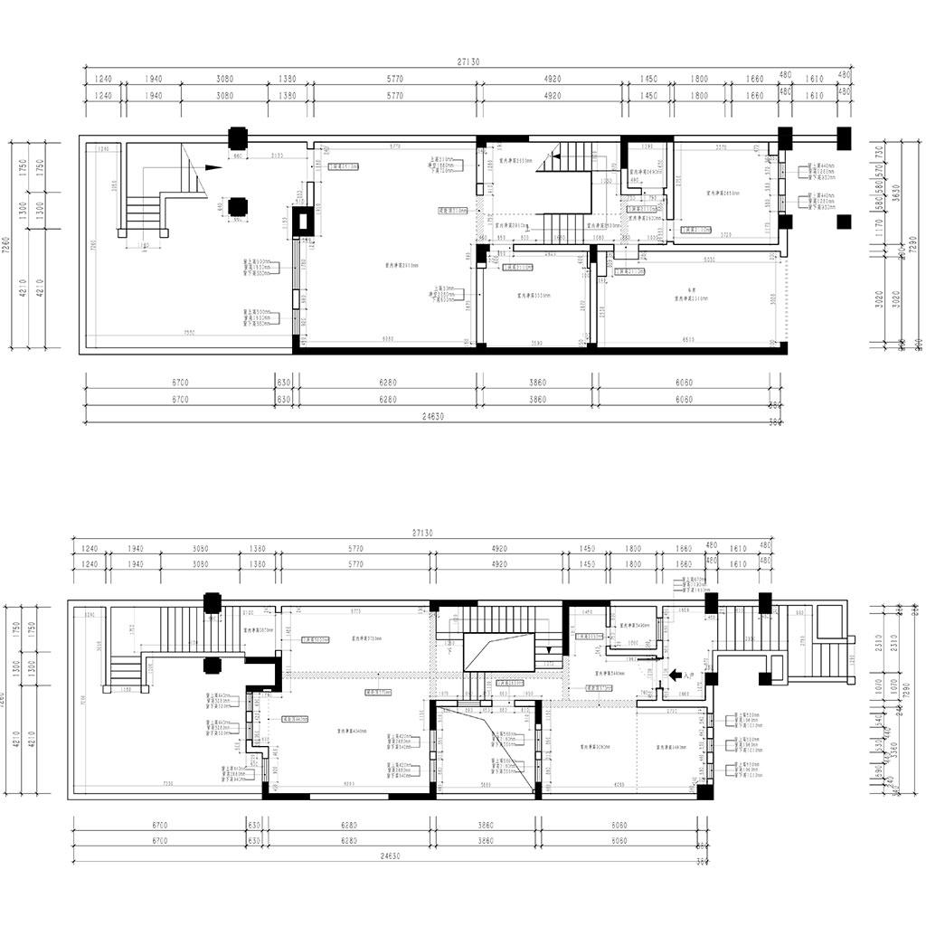 欧香小镇510㎡别墅现代北欧风格装修设计理念