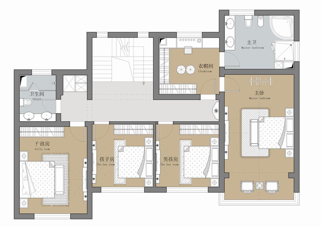 怀柔新新小镇-传统中式-500平米装修设计理念