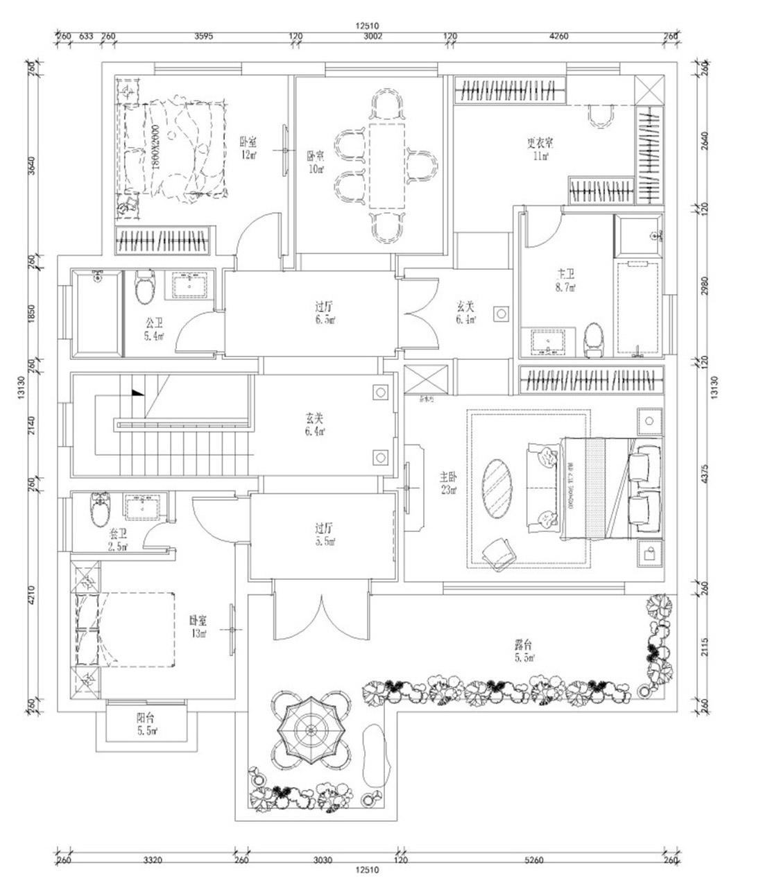高尔夫别墅310㎡新中式装修风格装修设计理念