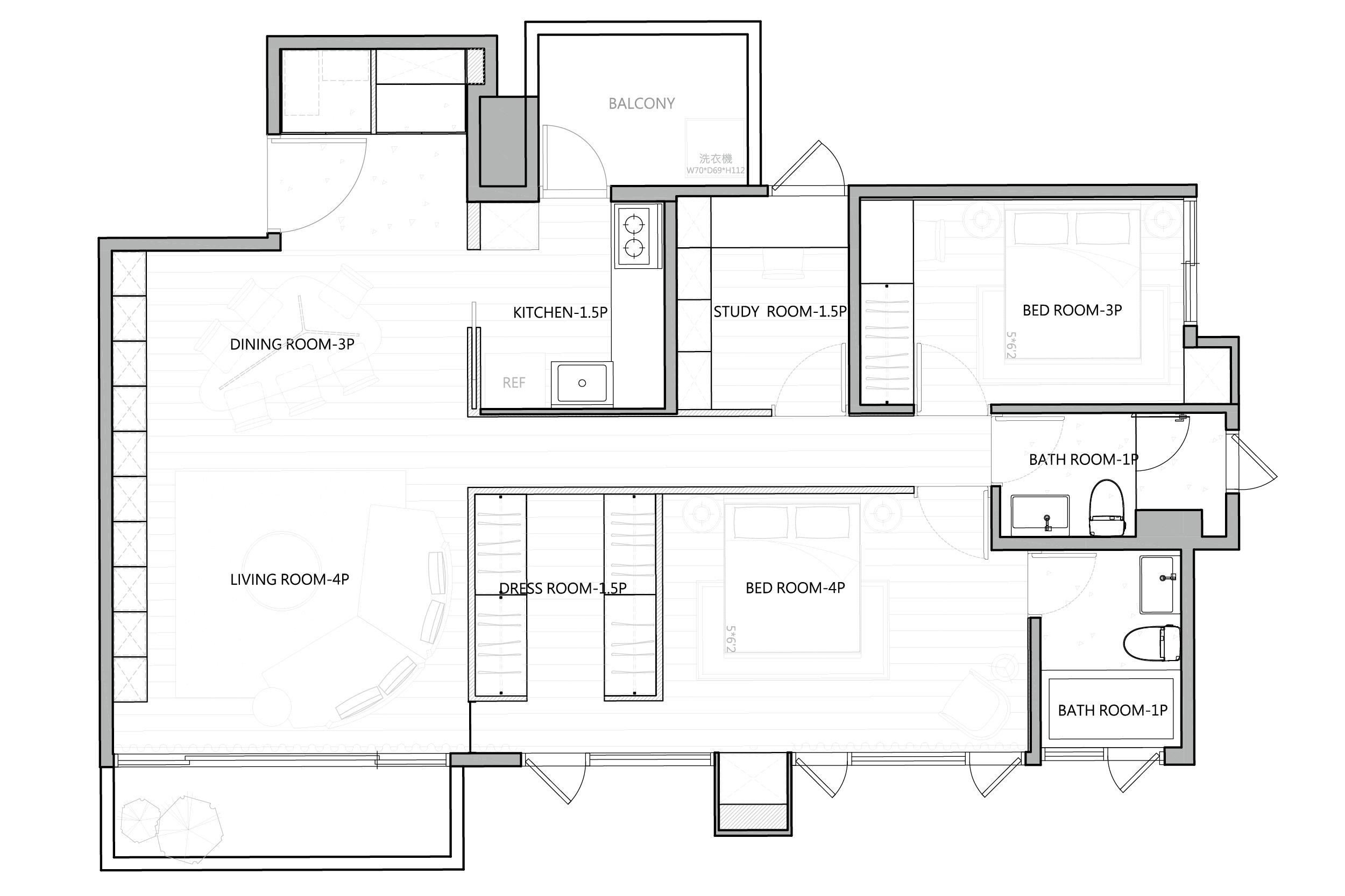 绿城百合-现代简约-130平米装修设计理念