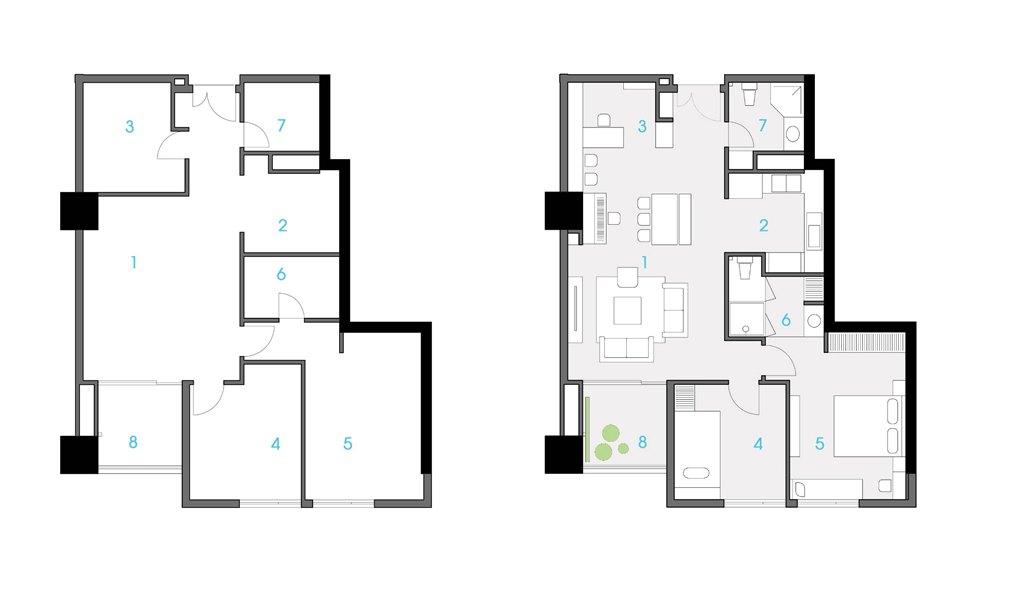 三阳金城132平米现代简约风格装修效果图装修设计理念