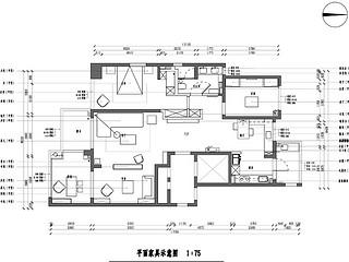 国税局家属院-124平米-现代风格-三室两厅一厨两卫