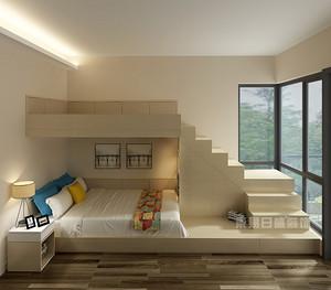 儿童房装修样板间,上下床铺设计奢而不俗