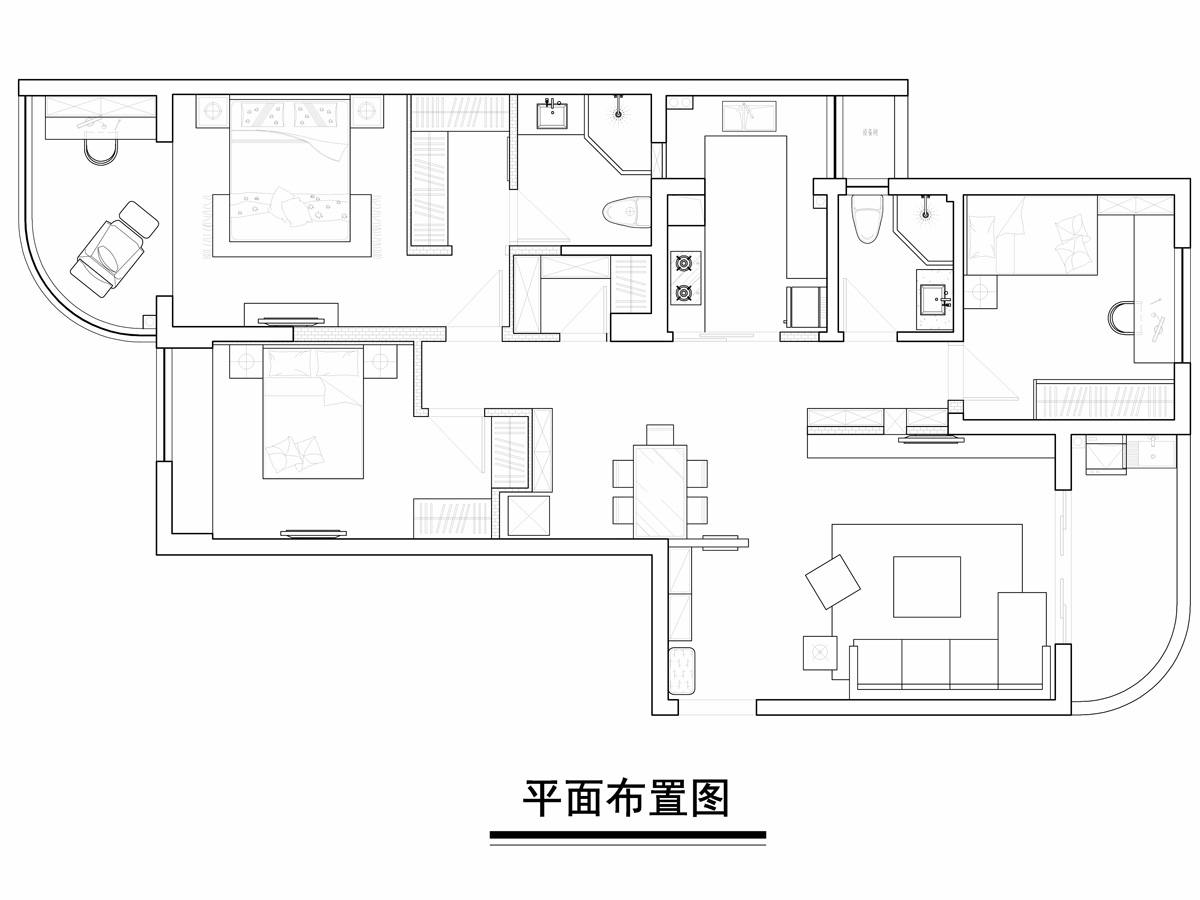 嘉兴普罗旺斯多元现代136平米装修设计理念