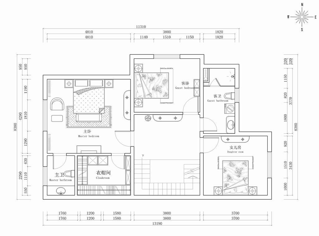 翡翠城别-墅新中式-300平米装修设计理念
