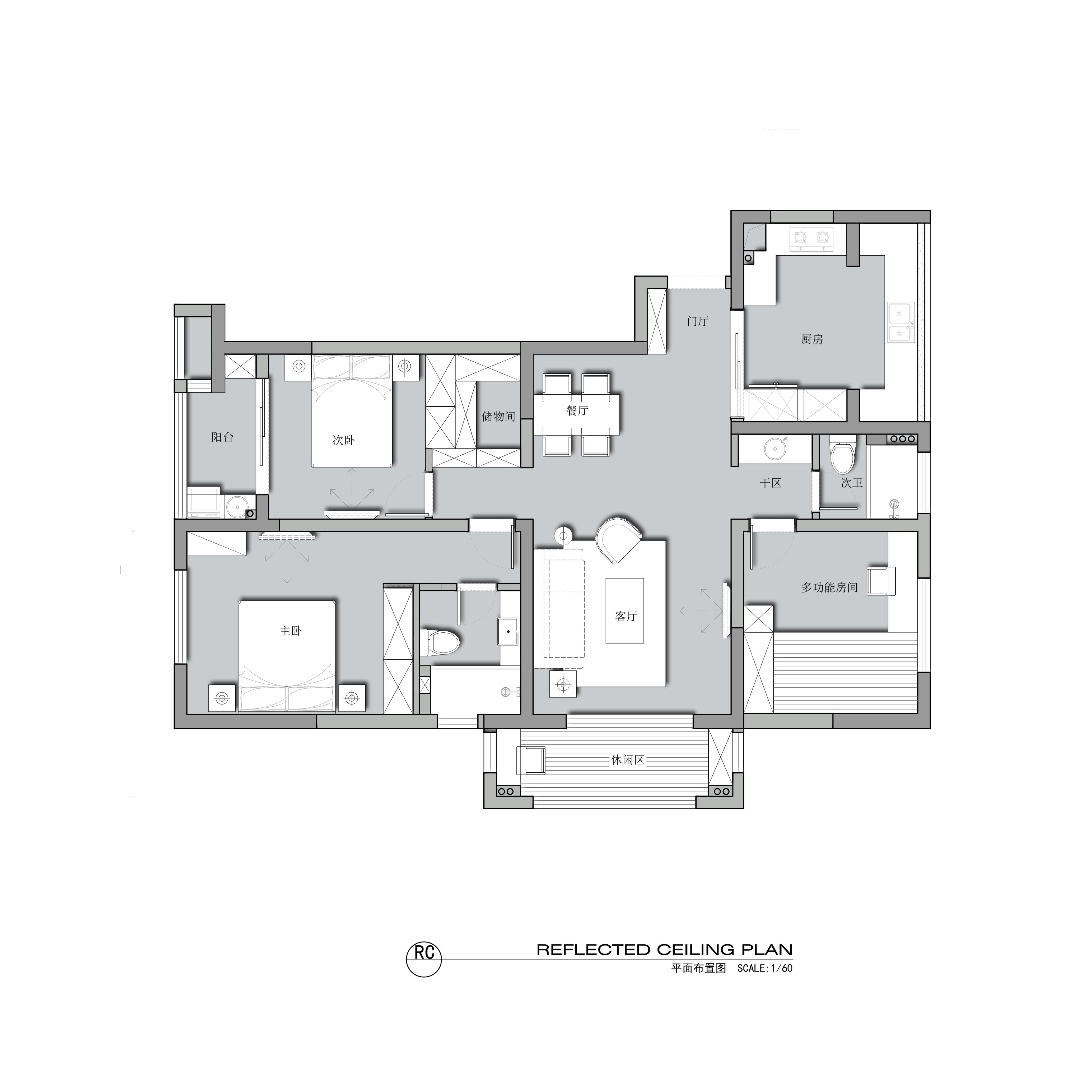绿城百合-现代简约-126平米装修设计理念