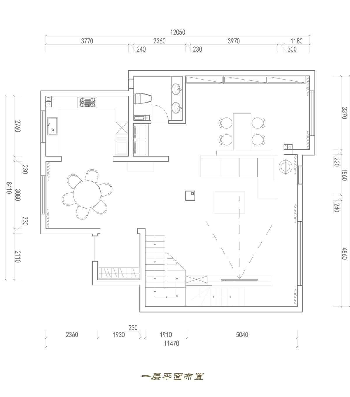 金屋秦皇半岛-现代轻奢风格-220平米装修设计理念