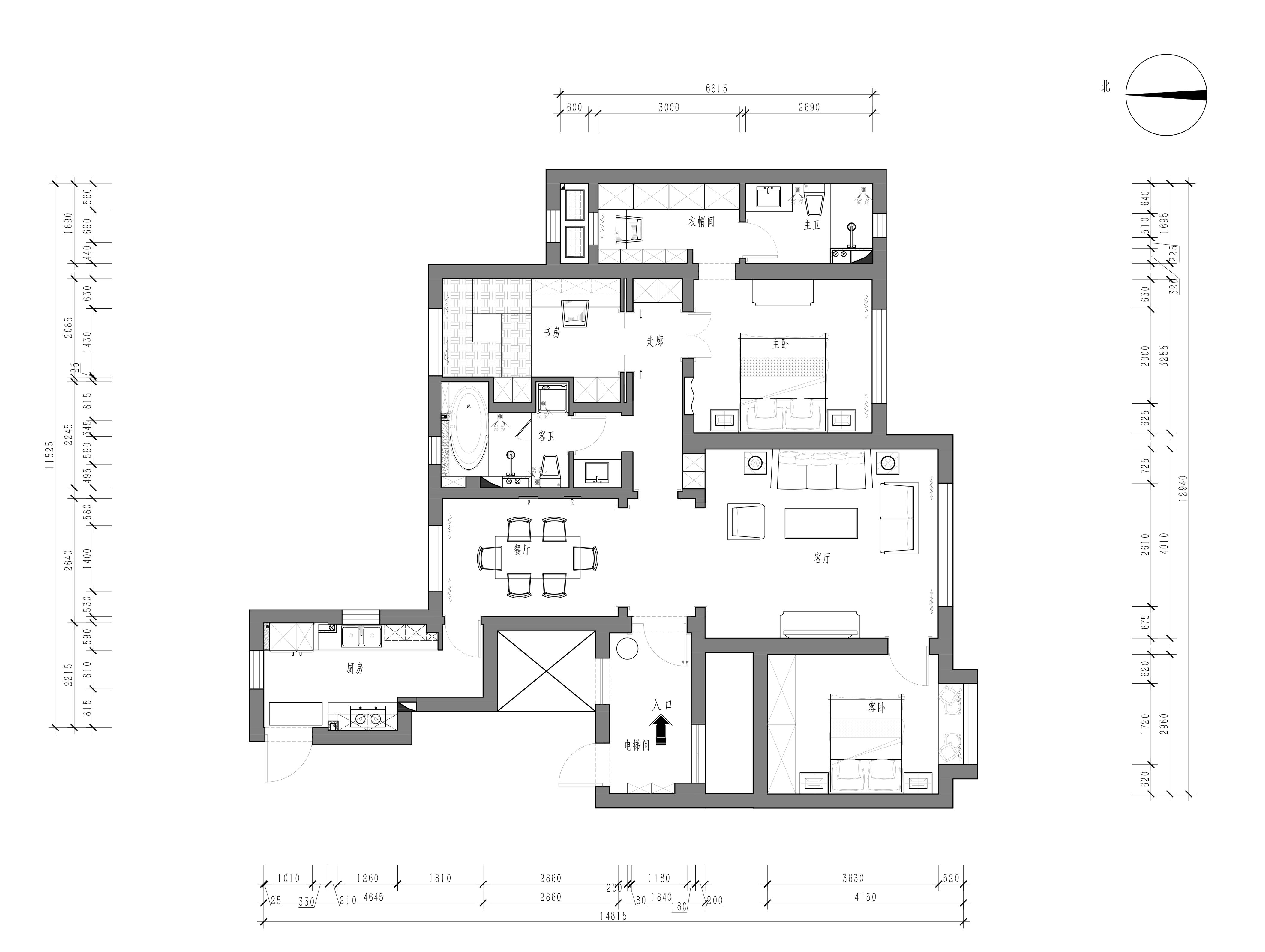 国滨苑-美式乡村-148平装修设计理念