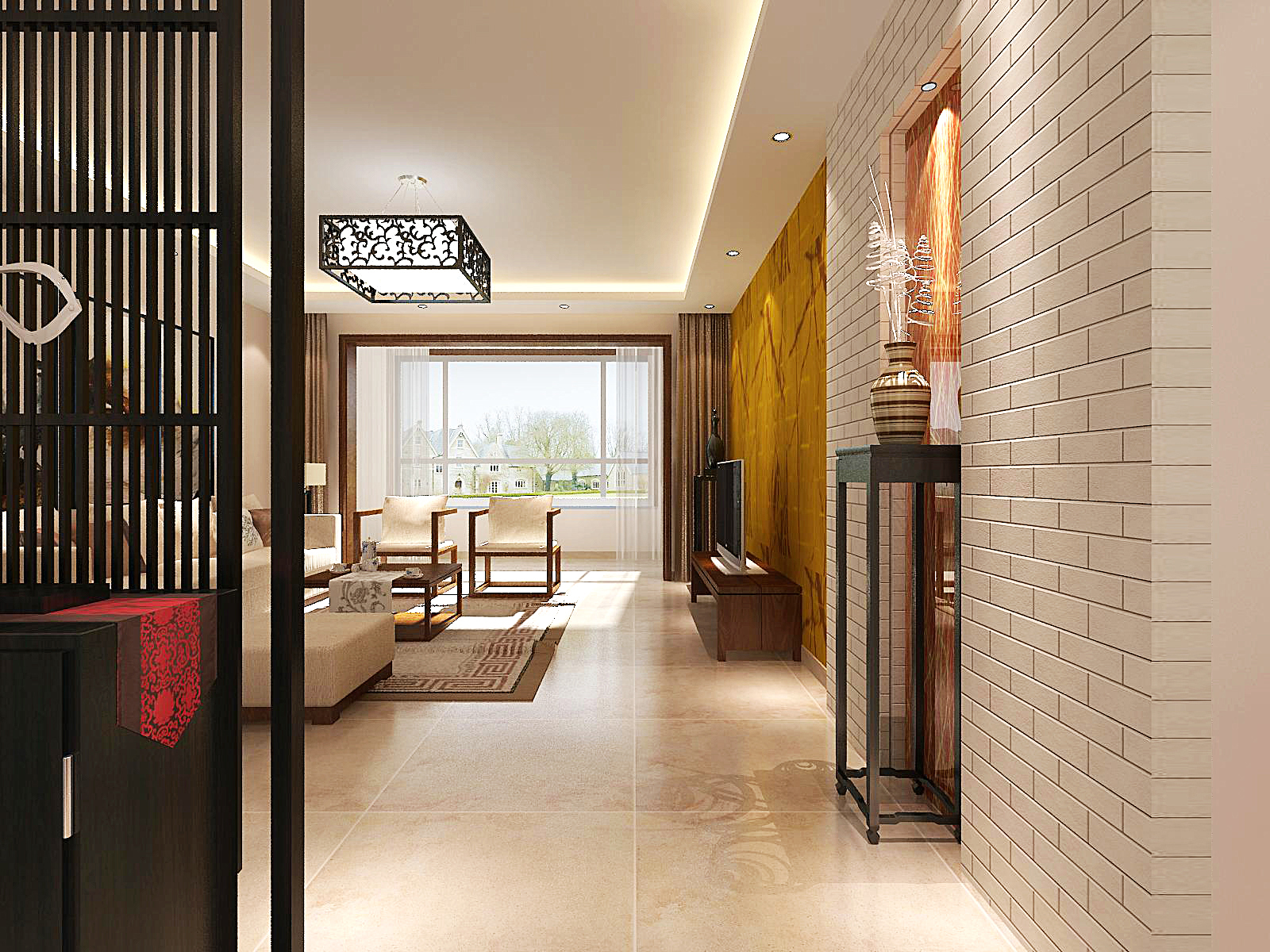 徜徉集-新中式-70平米装修设计理念