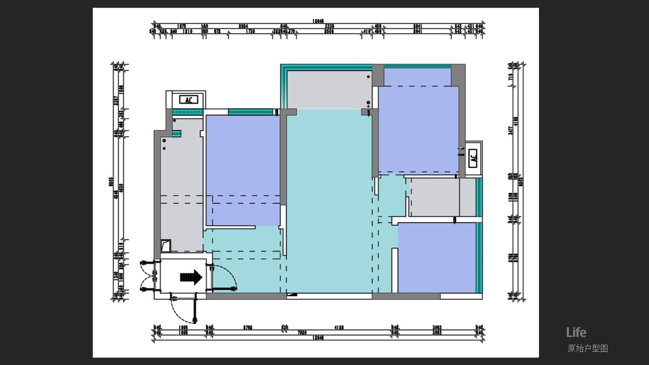 平吉上苑+103平米装修+现代风格装修案例装修设计理念