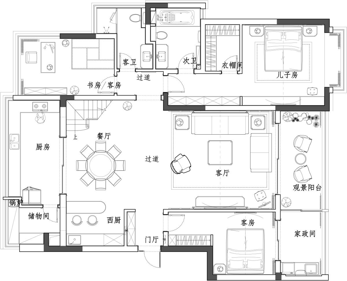 中航金城一号360平顶跃轻奢风格装修设计理念