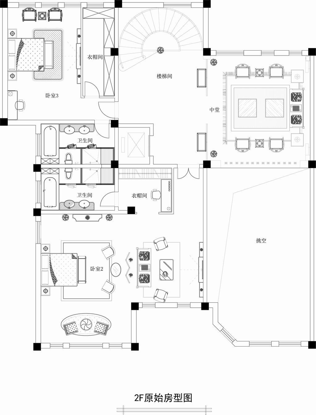 东营泰和公馆-新中式-800平米装修设计理念