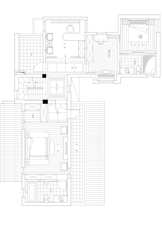中国院子400平米新中式风格装修实景效果图装修设计理念