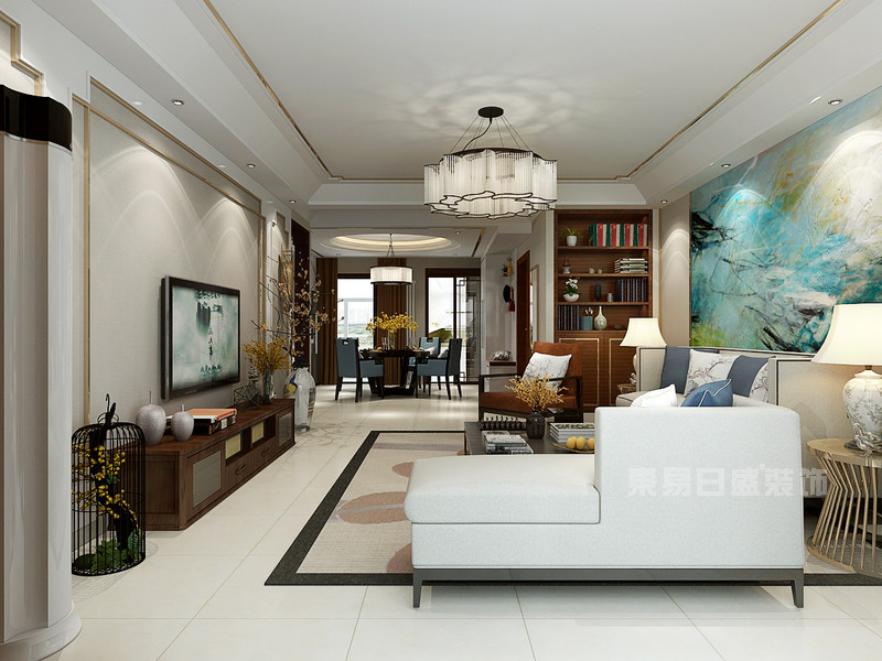 东易日盛装饰公司_150平米三室两厅装修效果图