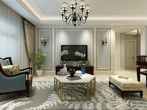 105平现代美式装修效果图,给你一个优雅又浪漫的家
