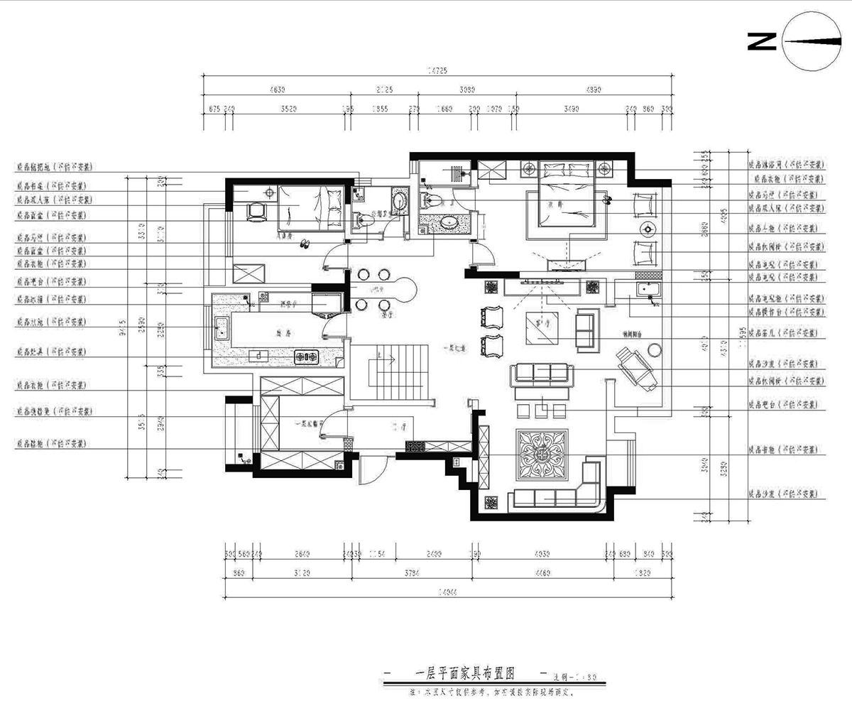 龙湖香醍·西岸 简约风格装修效果图 五室二厅三卫 170平米装修设计理念