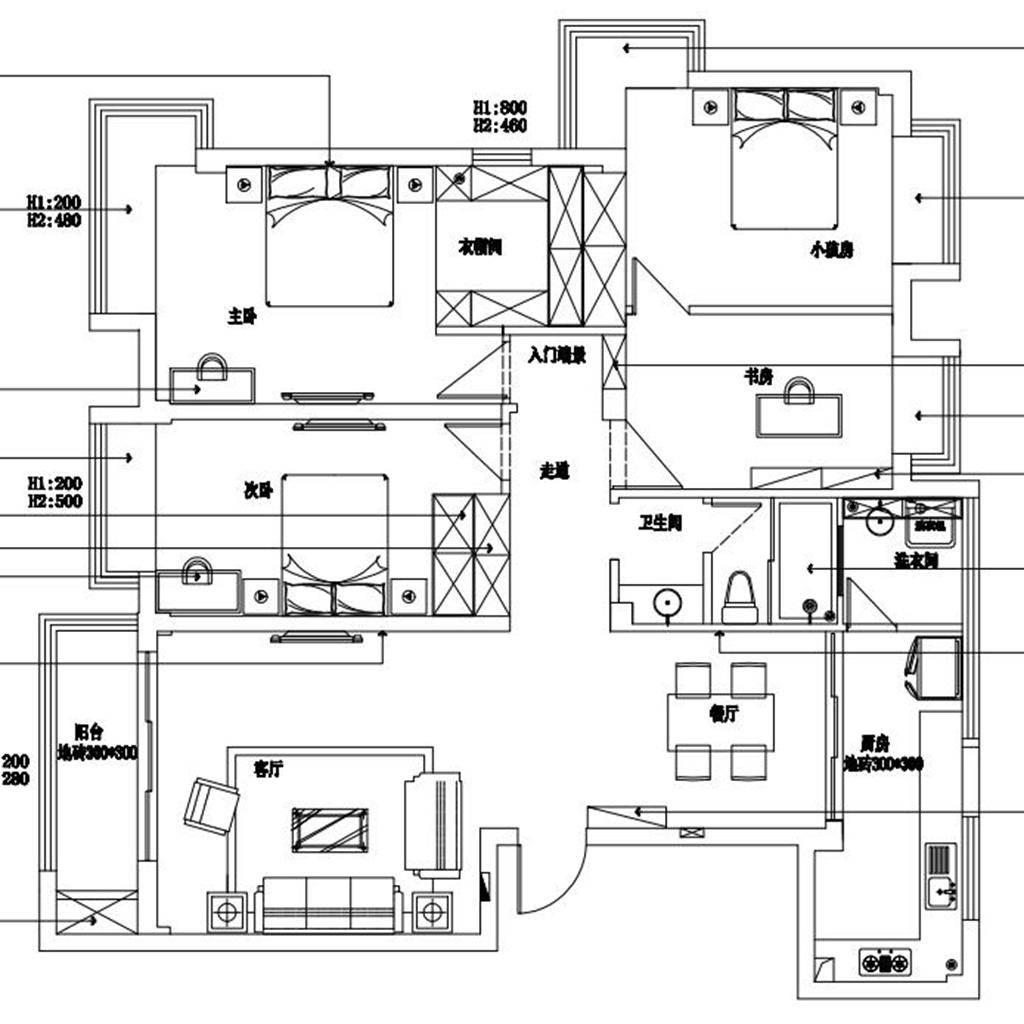 地大橡树园140㎡欧式古典风格装修效果图装修设计理念