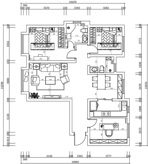 融创中心-现代-123㎡装修设计理念
