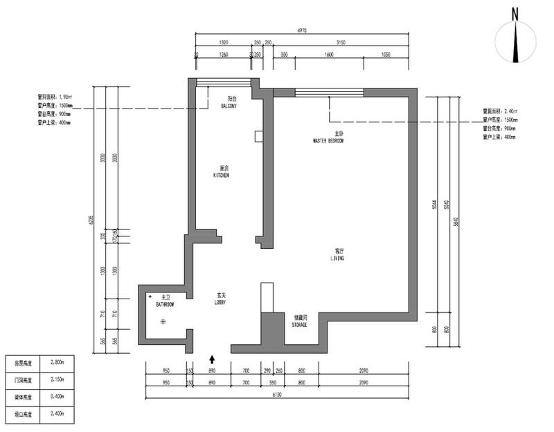 天壇公寓-45平米-日式風格裝修效果圖-公寓
