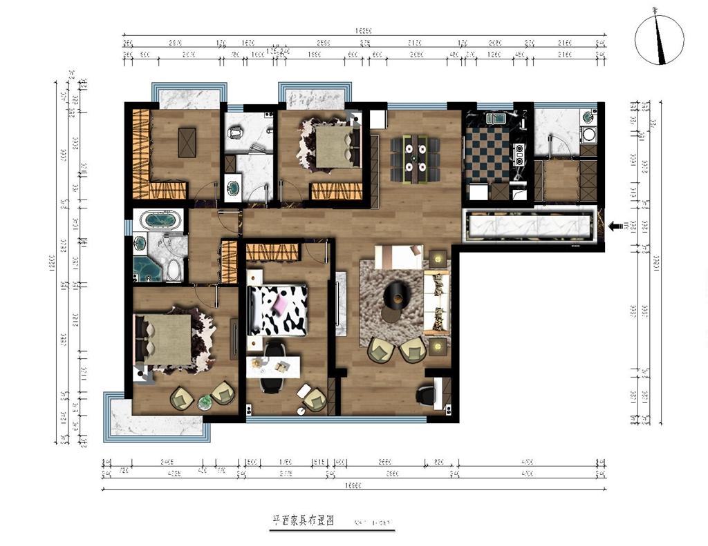 荣悦台160平现代简约四居装修设计理念
