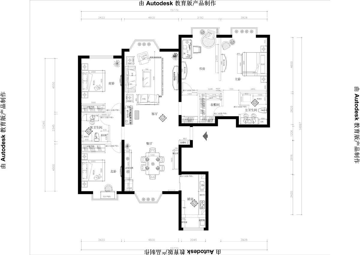 世纪城 简欧后奢 220平米装修设计理念
