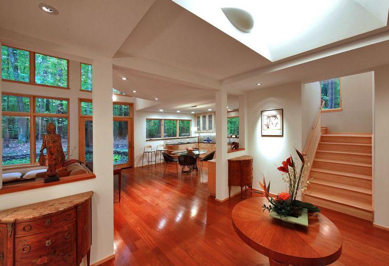 红木地板装修效果图,这地板颜值杠杠的-深圳家装公司