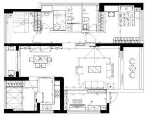 华联城市全景D栋-140㎡-小美风格-户型优缺点分析