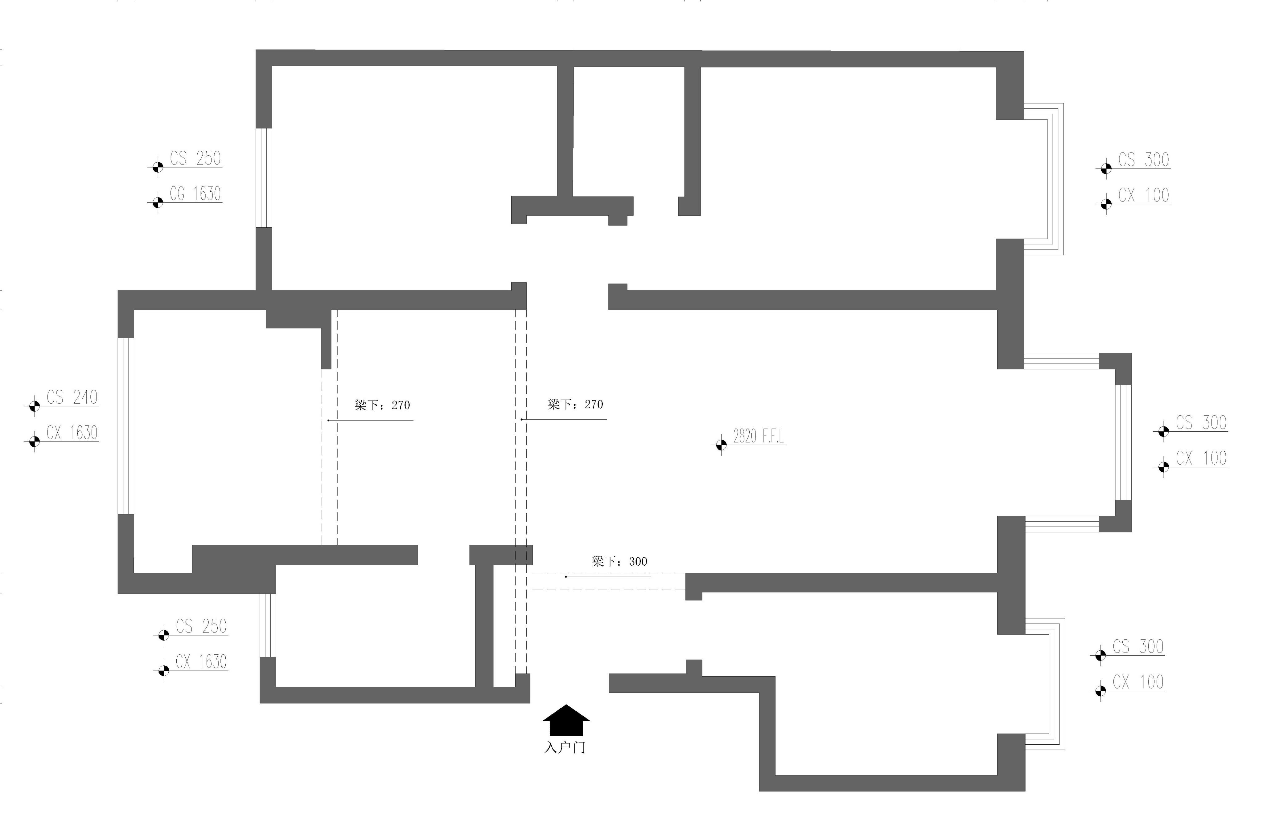 华北水利学院148㎡现代简约风格装修效果图装修设计理念