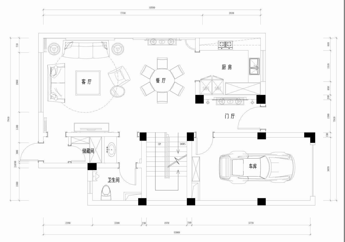 金粉世家-美式风格-380平米装修设计理念