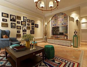 130平米美式风格三室,享受自由随性的生活!